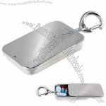 Chrome Steel Key Ring Pill Box