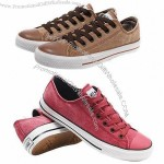 Classic and Vintage Style Men's Canvas Shoes, Made of Rubber Outsole
