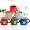 Classic Imitation Enamel Cup, Ceramic Breakfast Mug