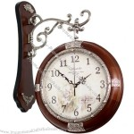 Classic Wooden Double Faced Clock