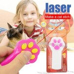 Claw Footprint Laser Cat Stick Toy