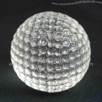 """Clear crystal finish. - Crystal golf ball. Diameter is 2 3/8""""."""