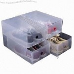 Clear PP Shoe Box Drawer for Men's Size, TUV-certified