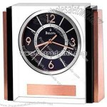 Clock with crystal case