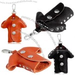 Clothes Design Leather Keychain