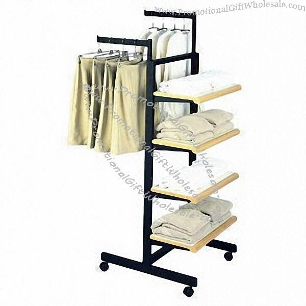Clothing Display Stand with Wheel Mobile and Adjustable ...