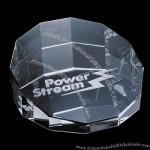 """Cloverdale - Optical Crystal 3 1/8"""" Paperweight"""