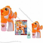 Clown Fish Auto Bubble Gun with Music and Lights