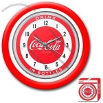 Coca-Cola Clock with White Neon