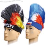 Cockscomb Flag Mohawk Mohicans Headband Wig for World Cup Soccer Fans