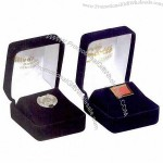 Coin, tic tac or cufflink box made of velour with vacform insert