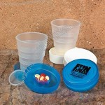 Collapsible Cup With Pill Box