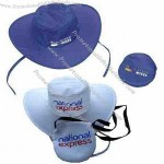 Collapsible Hat, Foldable Polyester Cap