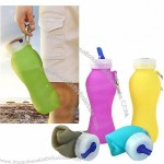 Collapsible Silicone Water Bottle for Sports