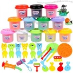 Color Clay Child Modeling Clay 12 Dough Mould Set Toy