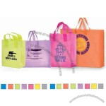 "Color Frosted Plastic Shopping Bag With Cardboard Bottom Insert, 10"" X 13"""
