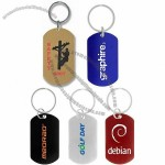 Colored Dog Tag w/ Split Ring