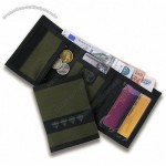 Colored Nylon Trifold Wallet