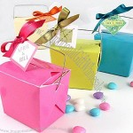 Colored Paper Take Out Boxes