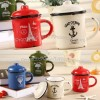 Colorful Antique Enamel Mug