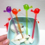 Colorful Birds Fruit Fork