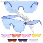 Colorful Clear Plastic Fashion Sunglasses