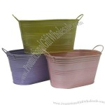 Colorful Iron Flower Planter Pot
