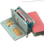 Colorful Ladies Wallet with Zipper