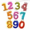 Colorful Number Soft PVC Refrigerator Magnets