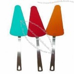 Colorful Silicone Triangle Cookie Pizza Turners with Long Handle