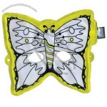 Coloring inflatable mask- butterfly.
