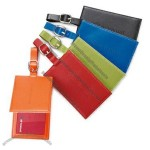 Colorplay Leather Luggage Tag With Magnetic Closure
