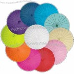 Coloured Chinese Bamboo and Paper Parasol