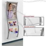 Combines Advertising Frame w/ Acrylic Pockets
