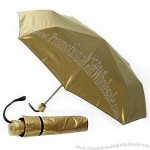 Compact Gold Umbrella