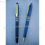 Conduct - Marbelized Blue - Cap-off rollerball pen.
