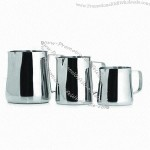 Conical Milk Jugs with Satin Finish, Made of Stainless Steel
