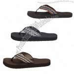 Coolest Men's Summer Slipper with Split Leather Upper and Rubber Outsole