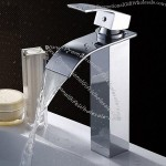 Copper Bathroom Counter Basin Faucet Hot and Cold Mixer Water Taps