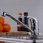 Copper Hot And Cold Kitchen Faucet Single Faucet Sink Water-Tap With 2 Hoses