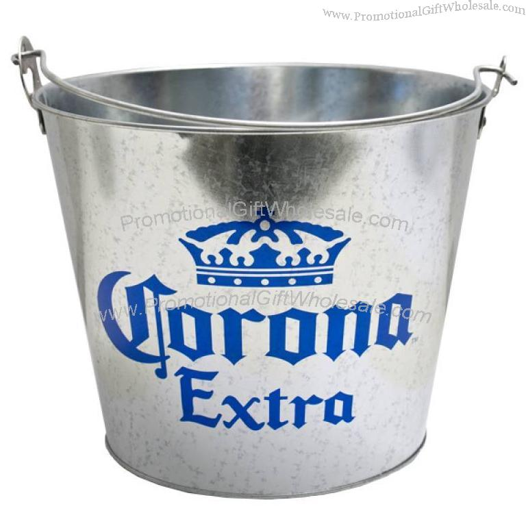 Bucket » Metal Ice Bucket » Corona Metal Beer Ice Bucket With Side