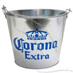 Corona Metal Beer Ice Bucket With Side Bottle Opener