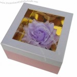 Corrugated Cardboard Gift Boxes with Window