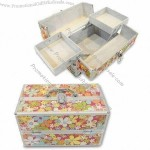 Cosmetic Case with Two Trays Inside and Aluminum Frame 320 x 185 x 188mm