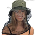 Cotton bucket hat with mosquito net