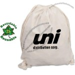Cotton Canvas Drawstring Backpack