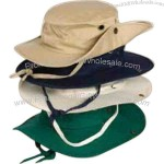 Cotton canvas floating hat with inside pocket and snap sides