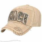 Cotton Canvas Washed Baseball Cap with 3-D Embroidery in Front