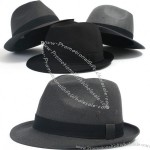 Cotton Mens Womens Constructed Trilby Fedora Gangster Hat