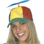 Cotton multicolor propeller cap